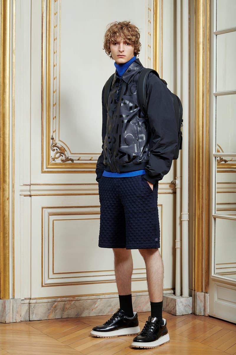 Virgil Abloh Louis Vuitton Pre-Fall 2020 Collection Lookbook Jacket Shorts Black