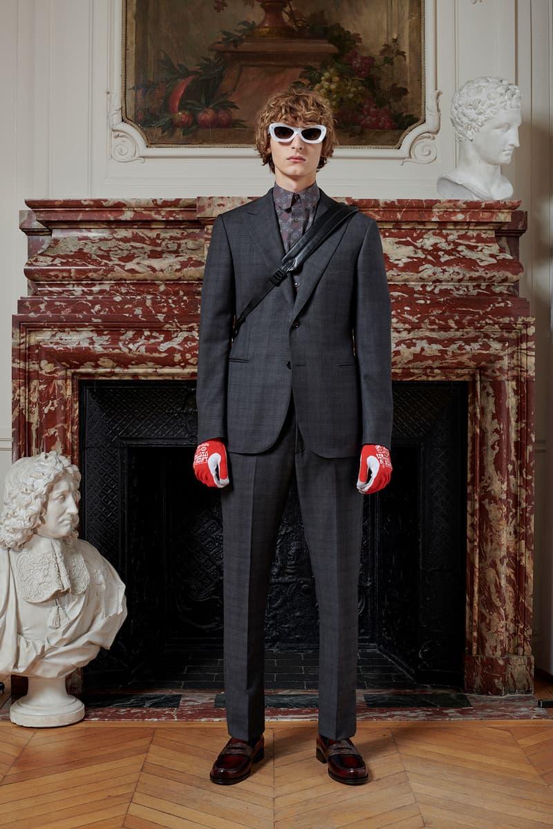 Virgil Abloh Louis Vuitton Pre-Fall 2020 Collection Lookbook Suit Black