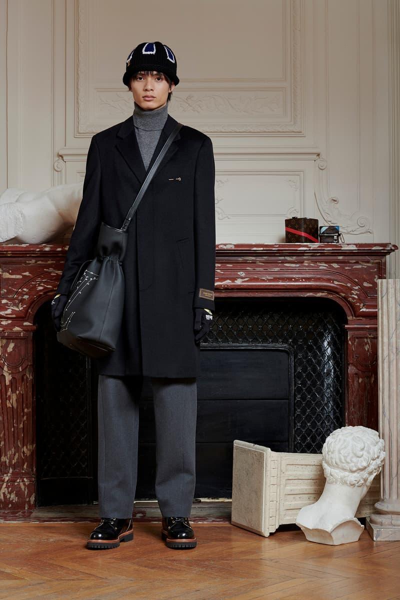 Virgil Abloh Louis Vuitton Pre-Fall 2020 Collection Lookbook Coat Black