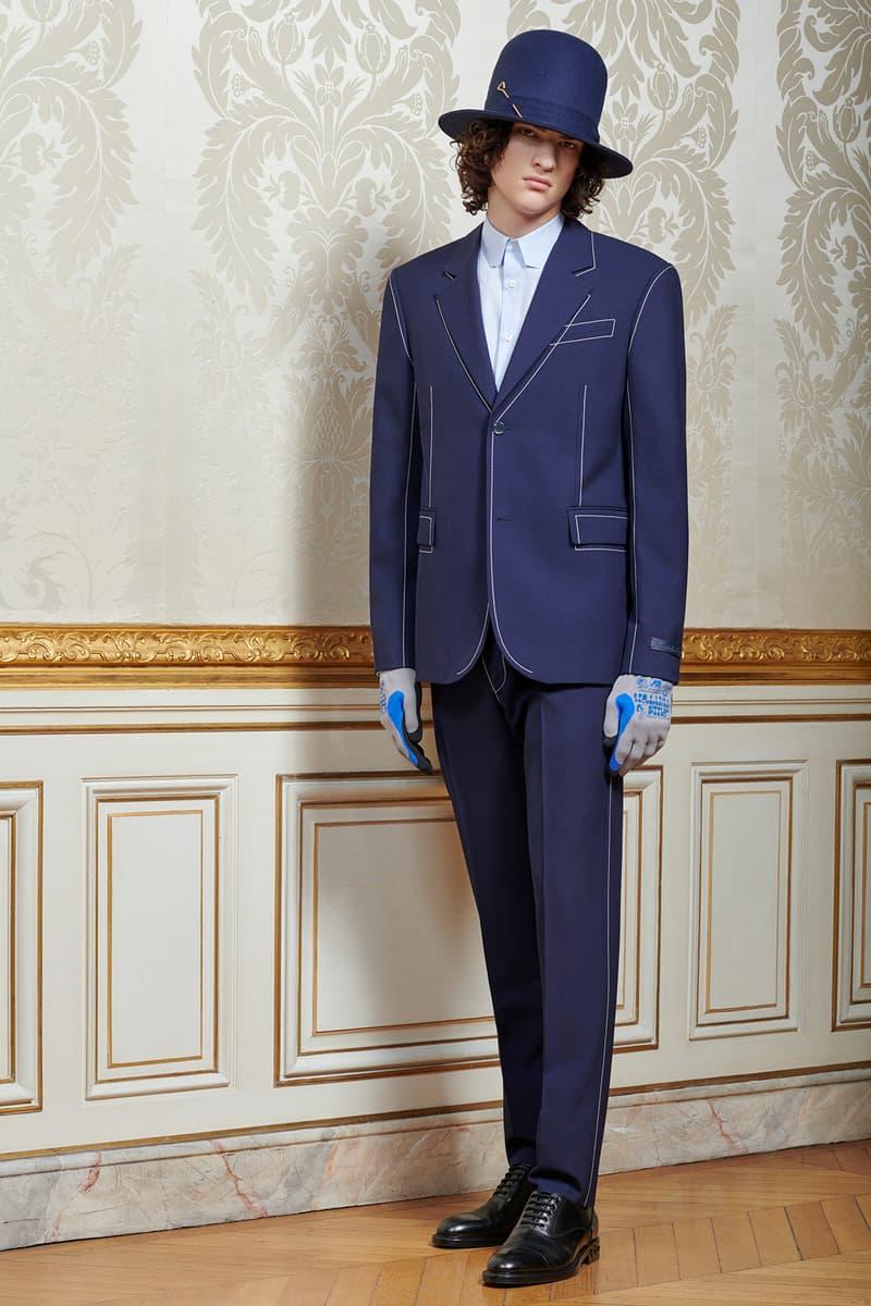 Virgil Abloh Louis Vuitton Pre-Fall 2020 Collection Lookbook Suit Navy Hat