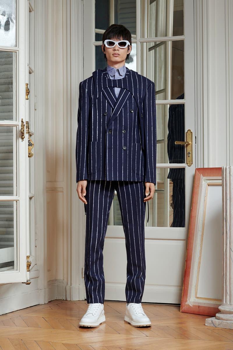Virgil Abloh Louis Vuitton Pre-Fall 2020 Collection Lookbook Suit Striped