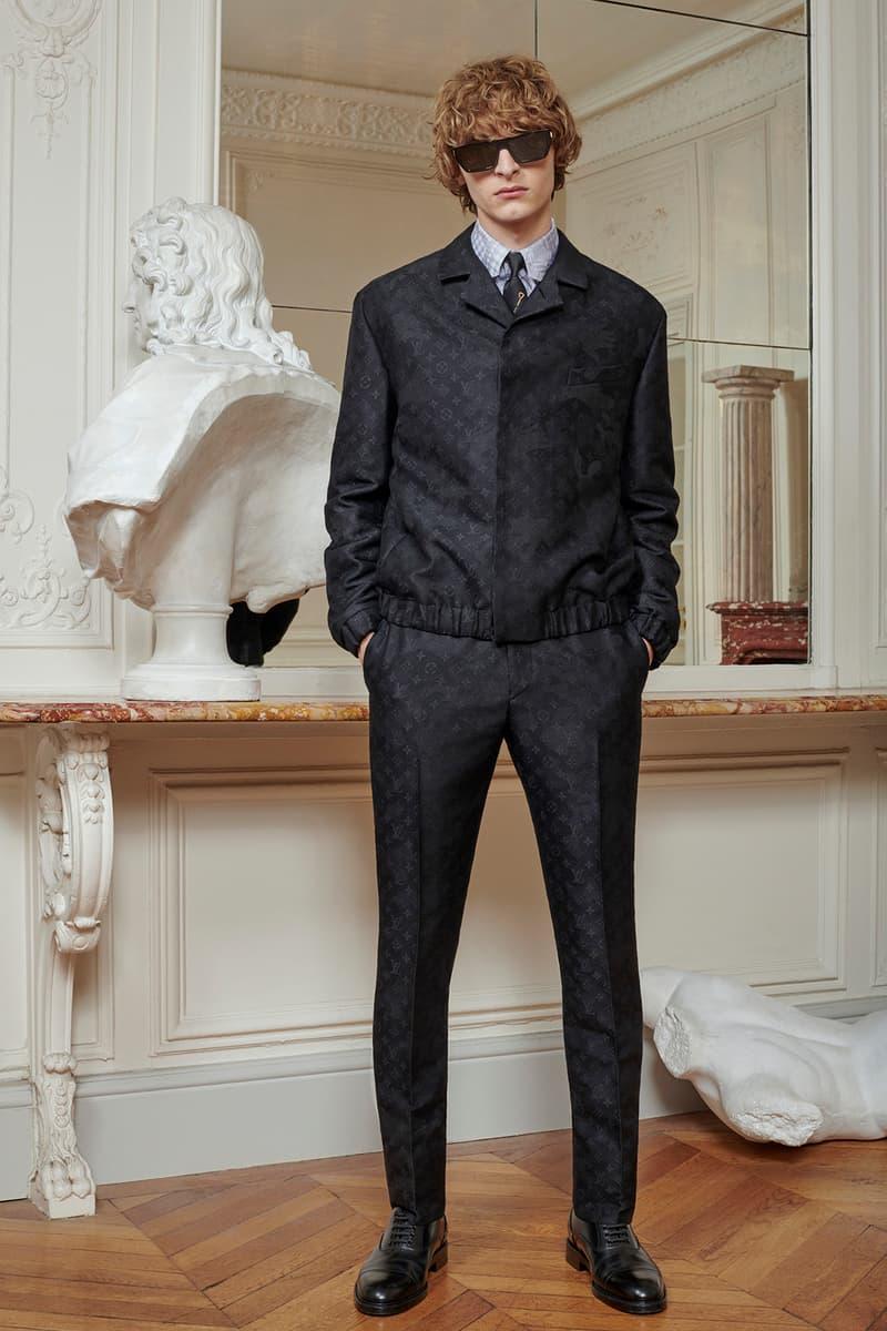 Virgil Abloh Louis Vuitton Pre-Fall 2020 Collection Lookbook LV Monogram Windbreaker Trousers Black