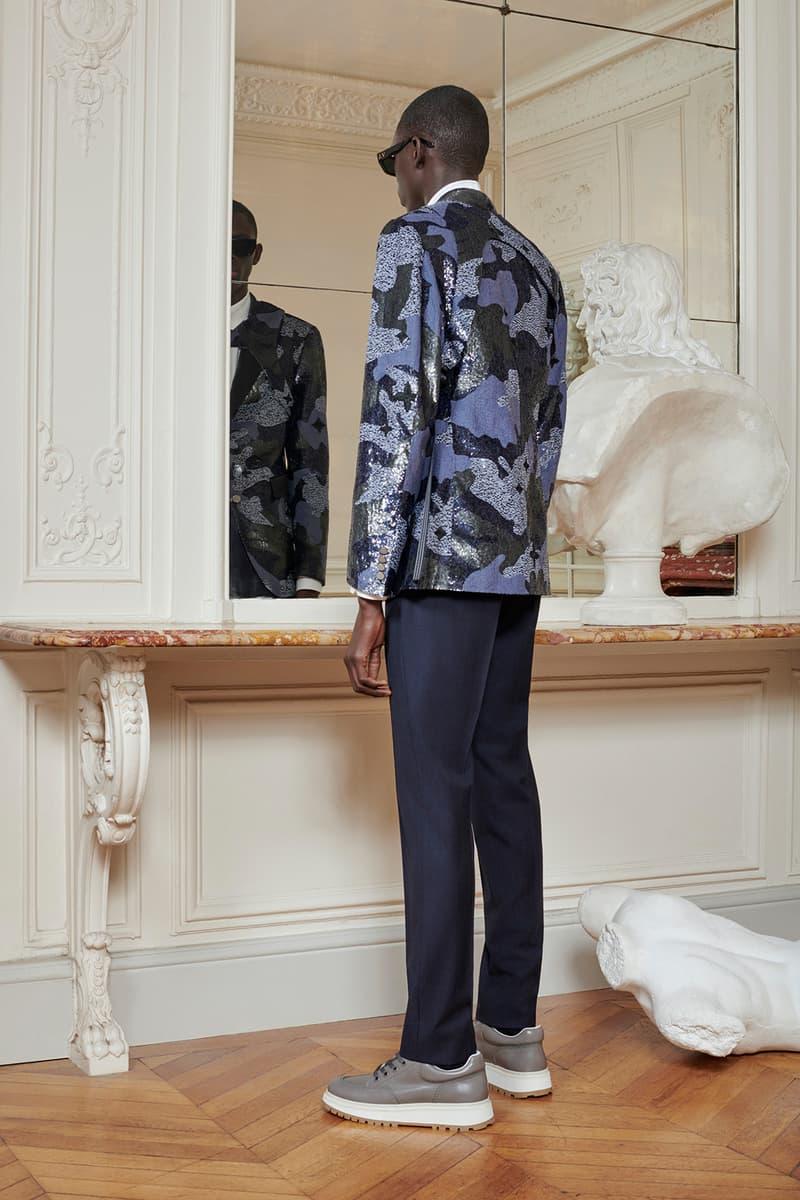 Virgil Abloh Louis Vuitton Pre-Fall 2020 Collection Lookbook Camo Harness Suit