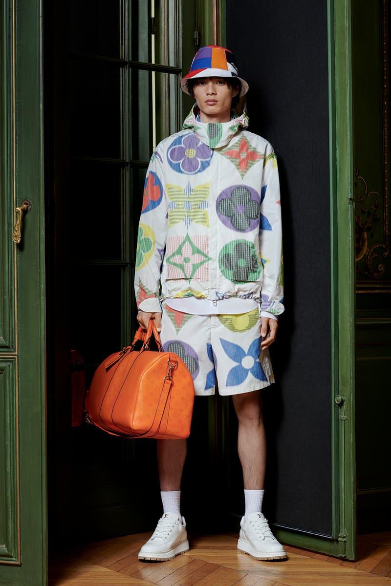 Virgil Abloh Louis Vuitton Pre-Fall 2020 Collection Lookbook Multicolor Logo Jacket Shorts
