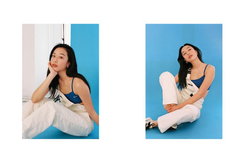Fall Blues Editorial Jeremy Jude Lee Stussy Overalls Frankie Collective Nike Crop Top Kangol
