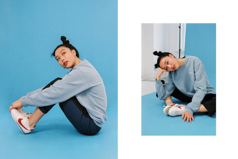 Fall Blues Editorial Jeremy Jude Lee Sporty & Rich Fun Logo Stussy Vista Utility Pant Nike Cortez Forrest Gump