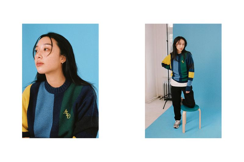 Fall Blues Editorial Jeremy Jude Lee Aime Leon Dore Stripe Sweater Dries Van Noten Phlilips Pant