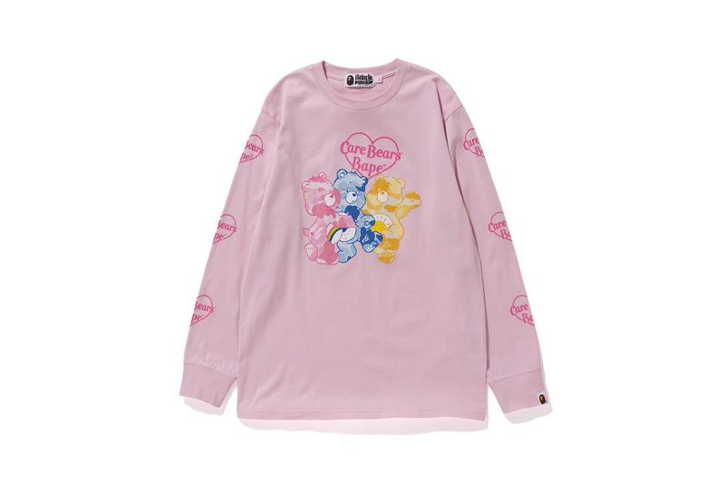 Care Bears x BAPE Long Sleeve Bear Shirt Pink