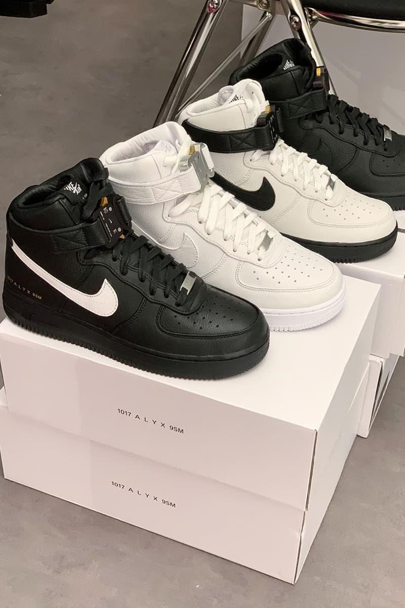 1017 ALYX 9SM x Nike Air Force 1 Hi Black White