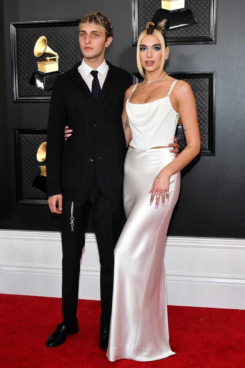 Dua Lipa Anwar Hadid Boyfriend 62nd Grammy Awards 2020 Red Carpet