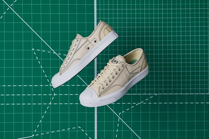 end converse blueprint pack sneaker footwear release retailer chuck taylor all star hi 70 jack purcell navy white egret soho london flagship store collaboration