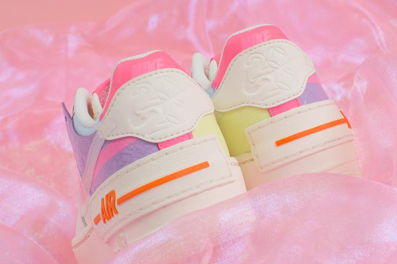nike air force 1 shadow womens sneakers pastel pink blue orange green purple shoes footwear sneakerhead swoosh translucent