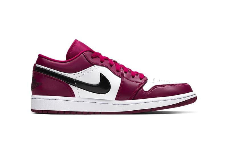 jordan brand air jordan 1 low michael jordan noble red white black nike sneakers footwear leather classic