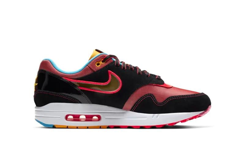 nike air max 1 nyc chinatown lunar new year chinese sneakers footwear mythology mythical longma red black heritage shoe chollima runner