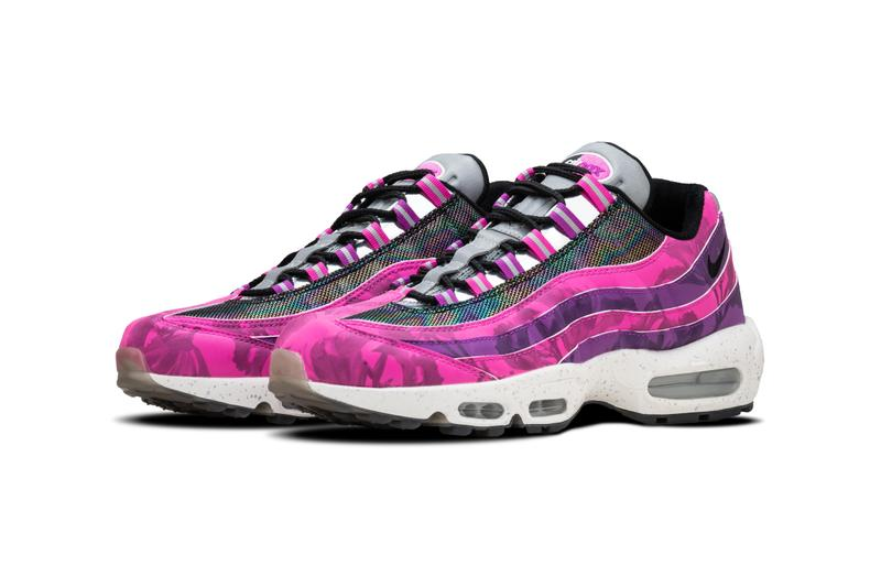 nike air max 95 swoosh hong kong 2020 celebration bauhinia sneakers footwear flowers fuchsia magenta wonder kid rex tso