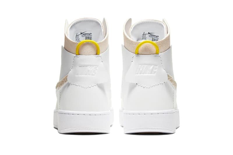 nike vandalized lx trainer sneaker vandal OG white chrome yellow black suede leather upper