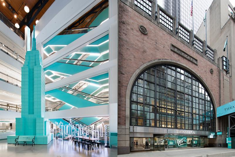 tiffany and co new york city flagship store next door jewelry high collections luxury brand retail blue