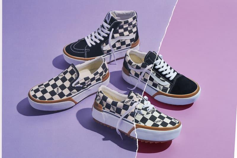 vans stacked pack collection era old skool sk8 hi slip on sneakers footwear checkerboard classic styles heritage
