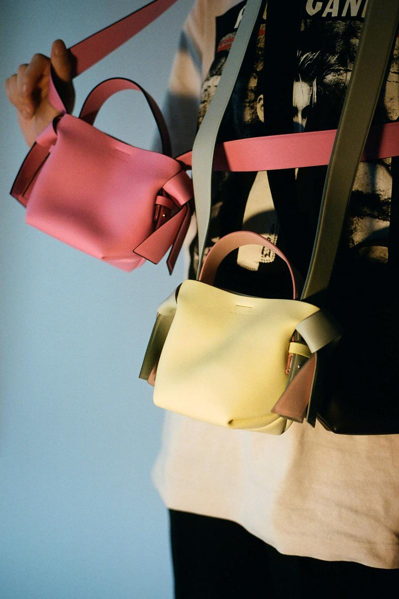 Acne Studios Spring/Summer 2020 Collection Mini Bag Pink Yellow