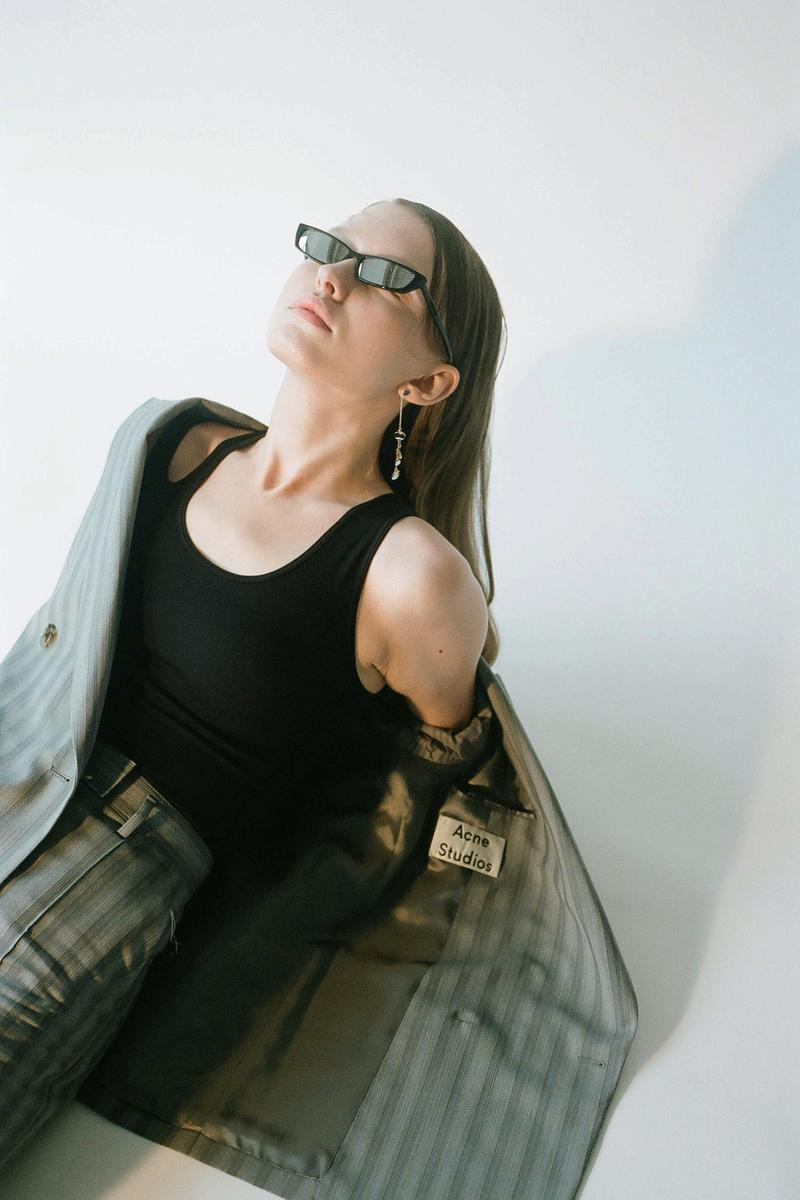 Acne Studios Spring/Summer 2020 Collection Blazer Pants Suit Grey Stripe
