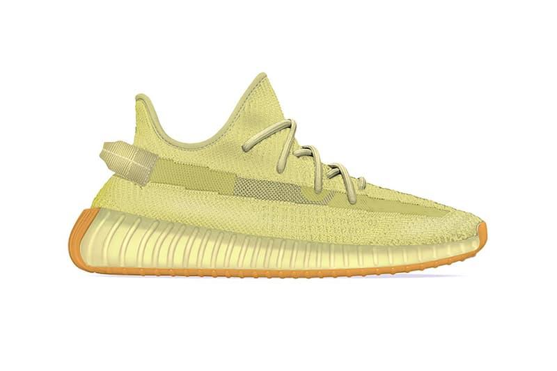 adidas kanye west yeezy boost 350 v2 flax sulphur neon green footwear sneakerhead