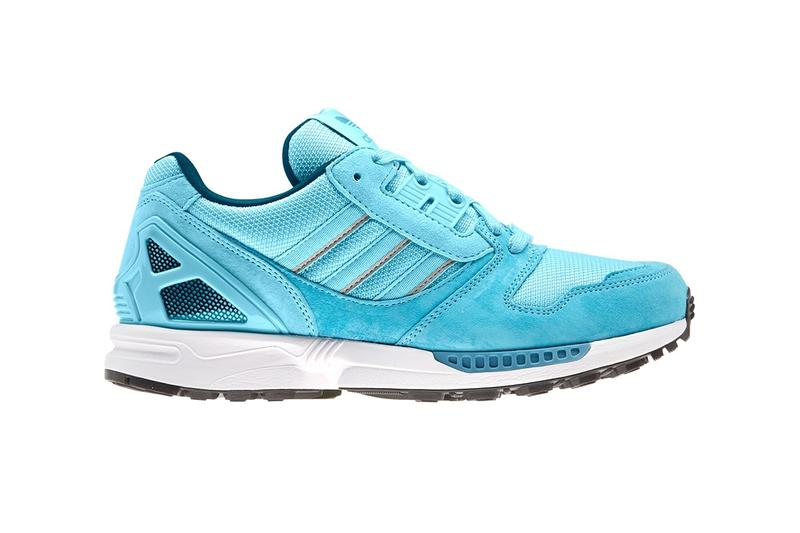adidas zx 8000 icy colorway glow blue womens exclusive linen green orbit grey mesh suede sneaker footwear