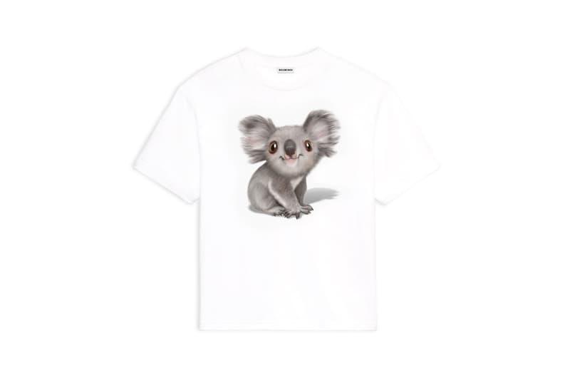 Balenciaga Australian Bushfire Relief Koala T-Shirt