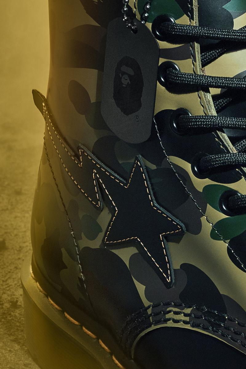 BAPE x Dr. Martens Anniversary Boot Collaboration Camo Print Release Date