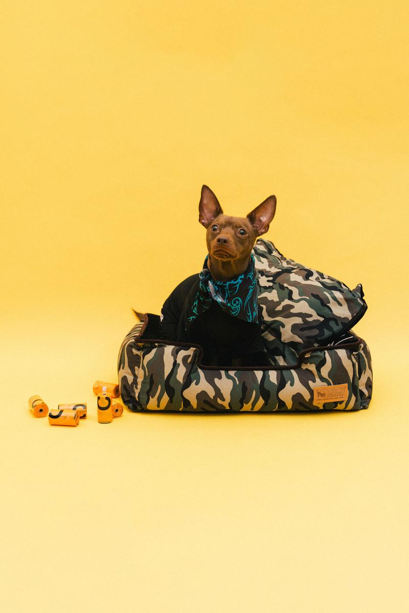 Best Dog Clothing Accessory Brands Heron Preston x V.I.P. Turtleneck Black Jacquard Collar Orange MISBHV SSENSE Bandana Muttropolis Lounge Bed Camo