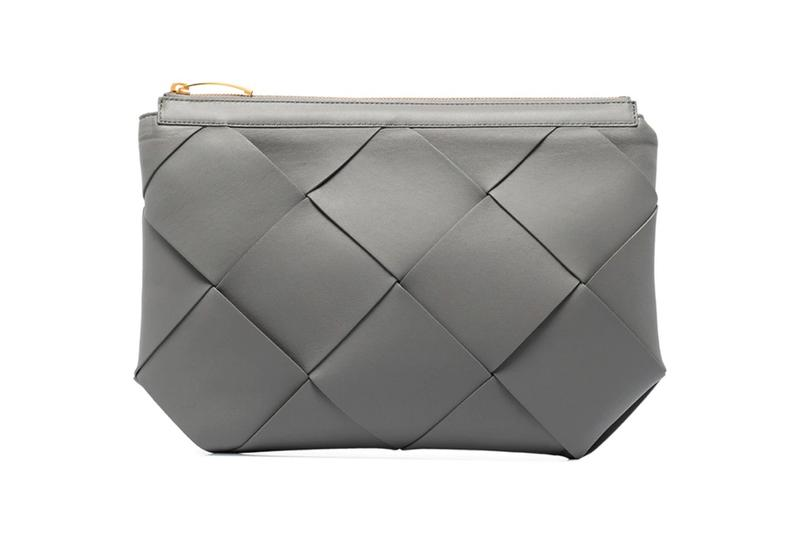 bottega veneta grey maxi intrecciato leather clutch bag pouch gold daniel lee jodie bag nero leather sandals italy winter browns fashion