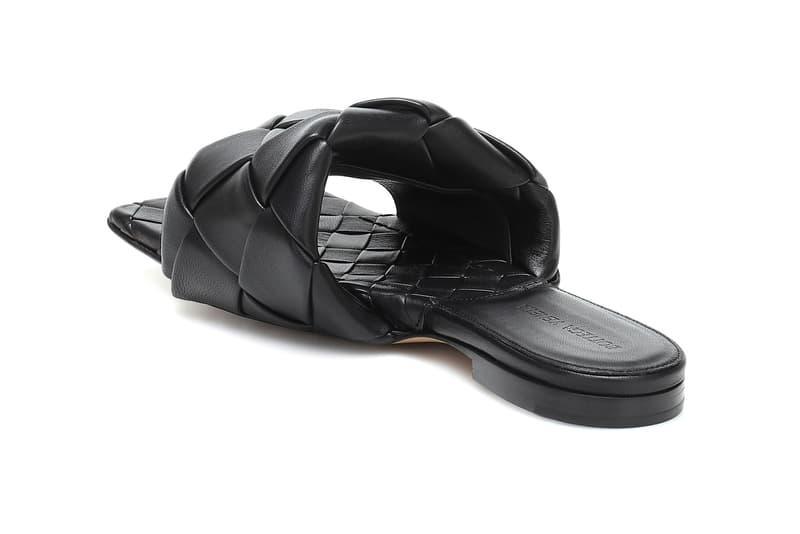 bottega veneta lido leather slides black daniel lee sandals shoes footwear designer
