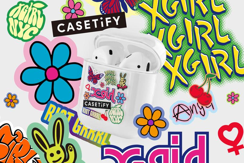 casetify x-girl collaboration iphone cases airpods tech