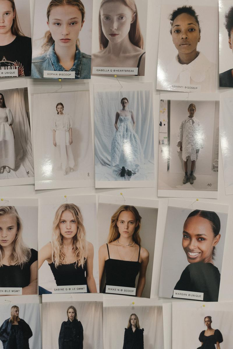Cecilie Bahnsen FW20 Fall Winter 2020 Collection Runway Show Fitting Backstage Danish Designer Copenhagen Fashion Week Models