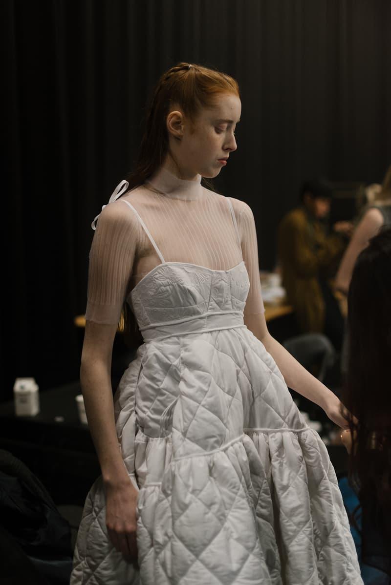 Cecilie Bahnsen FW20 Fall Winter 2020 Collection Runway Show Fitting Backstage Danish Designer Copenhagen Fashion Week Dress Model