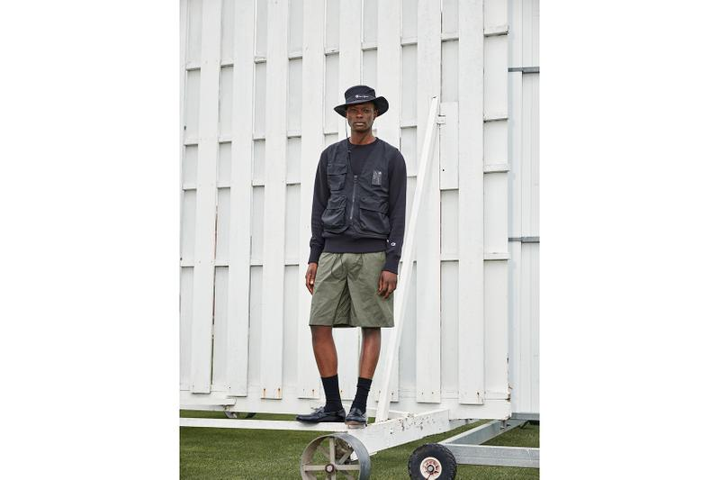 champion spring summer collection lookbook hoodies shirts shorts sneakers jackets