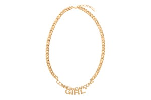 Picture of COMME des GARÇONS Girl's Gold Logo Necklace Is Your Next Statement Piece