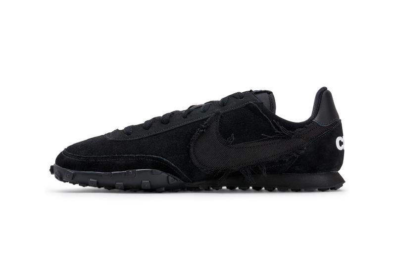 comme des garcons nike waffle racer 2 black release info price collaboration