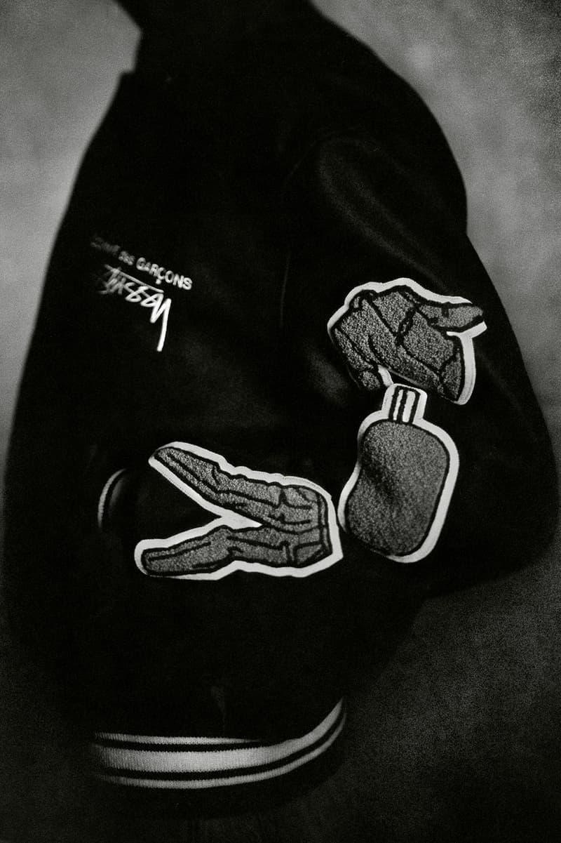 COMME des GARÇONS x Stussy Collaboration Varsity Jacket 40th Anniversary