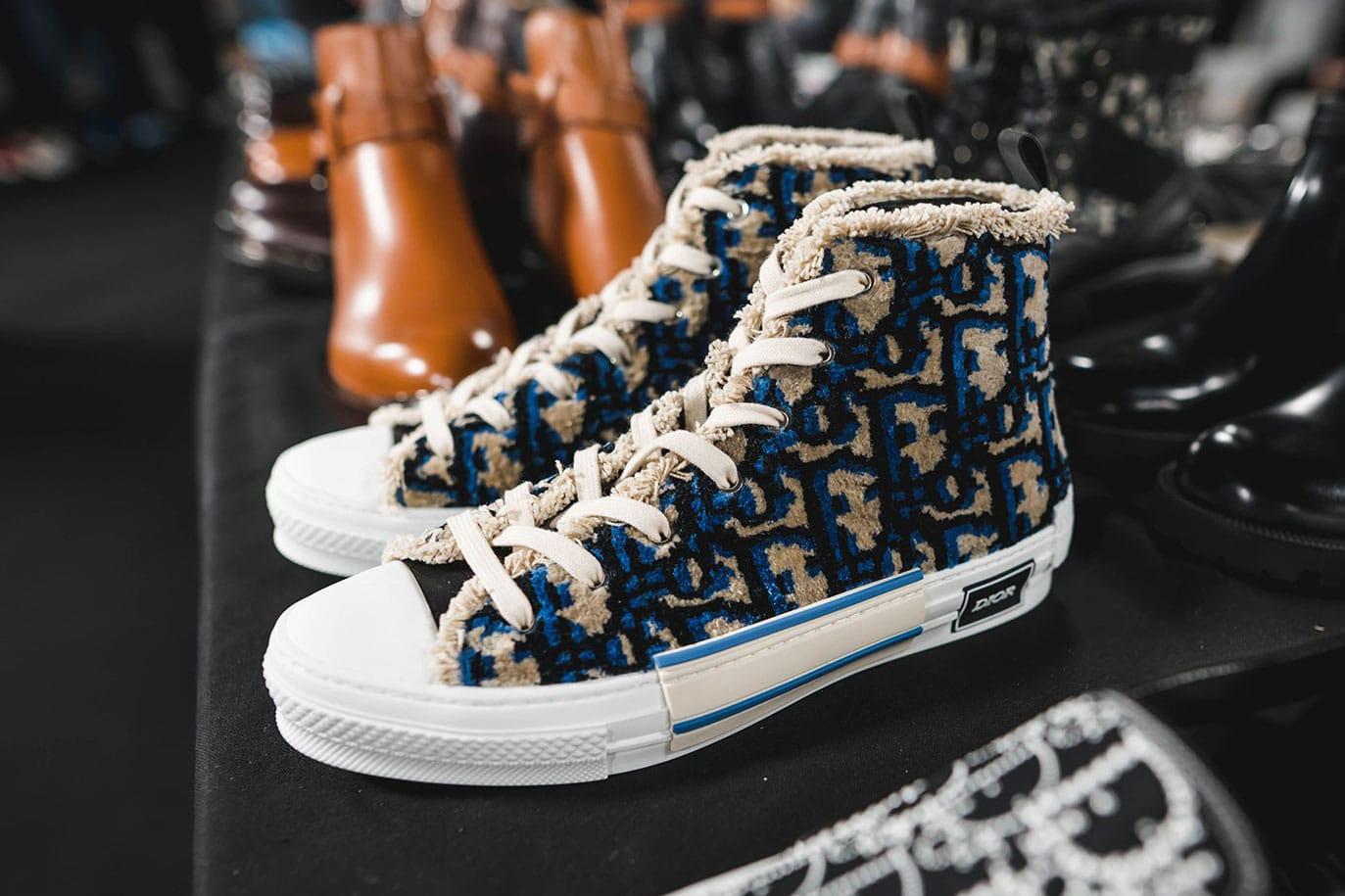 dior monogram high top sneakers