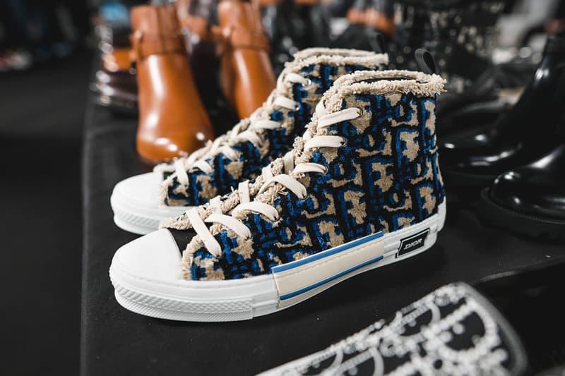 Dior B23 Carpet Oblique Sneaker Fall/Winter 2020 Paris Fashion Week Men's Show Collection Backstage