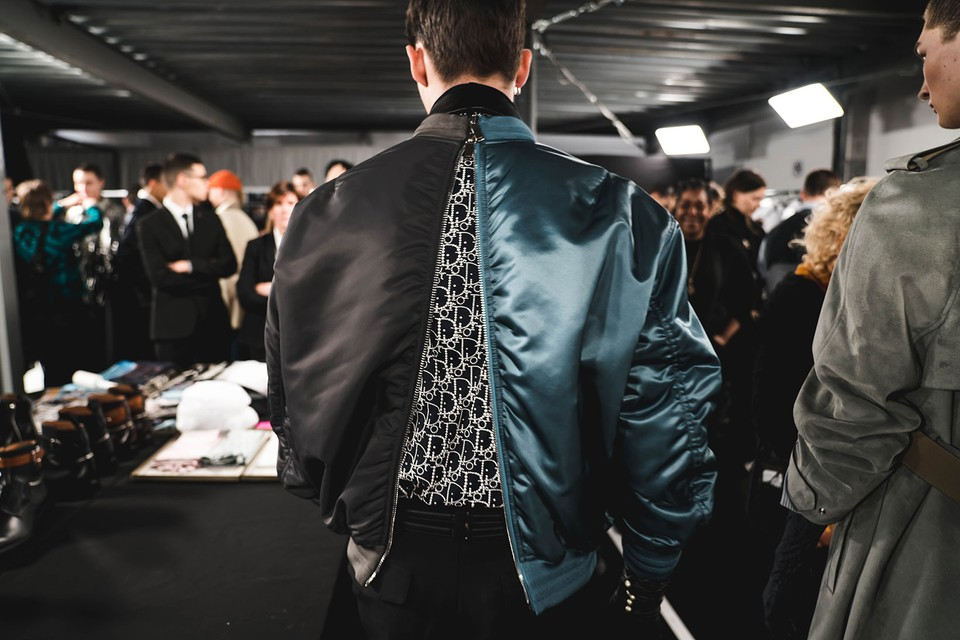 A Backstage Look at Dior Men's Glamor-Punk FW20 Show