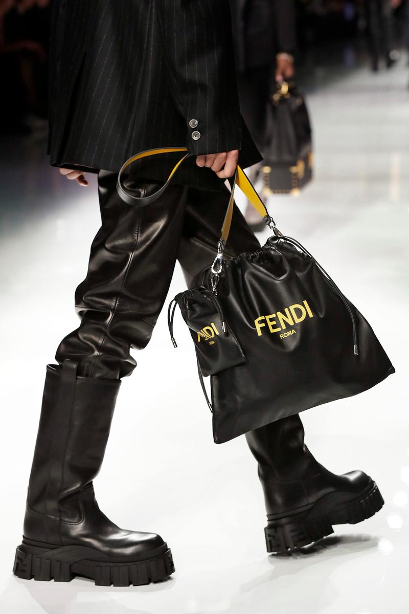 Fendi Fall/Winter 2020 Collection Drawstring Black