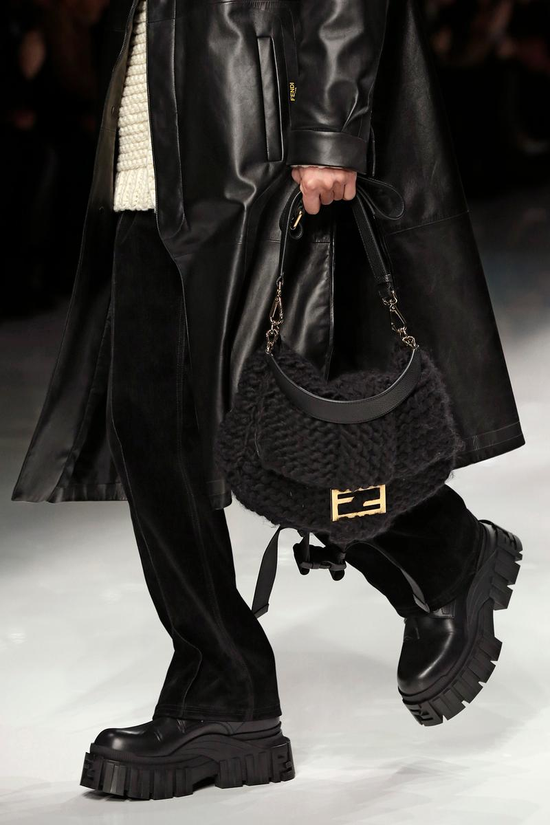 Fendi Fall/Winter 2020 Collection Bags Baguette Knit