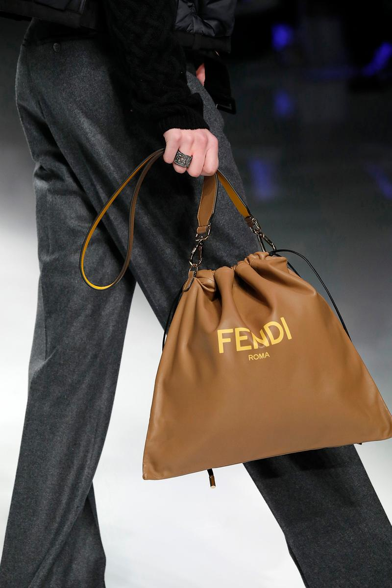 Fendi Fall/Winter 2020 Collection Drawstring Brown