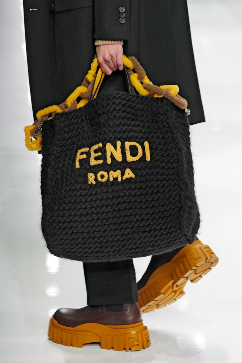 Fendi Fall/Winter 2020 Collection Bags Peekaboo Knit