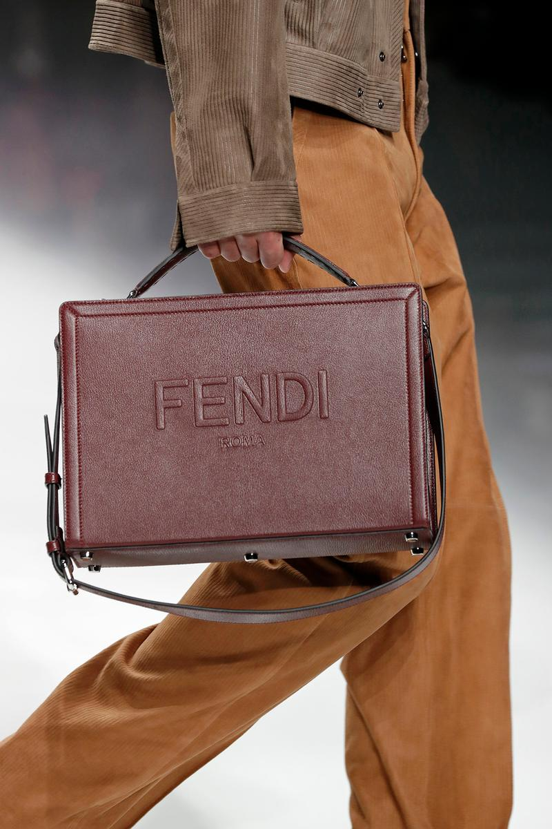 Fendi Fall/Winter 2020 Collection Logo Crossbody Burgundy