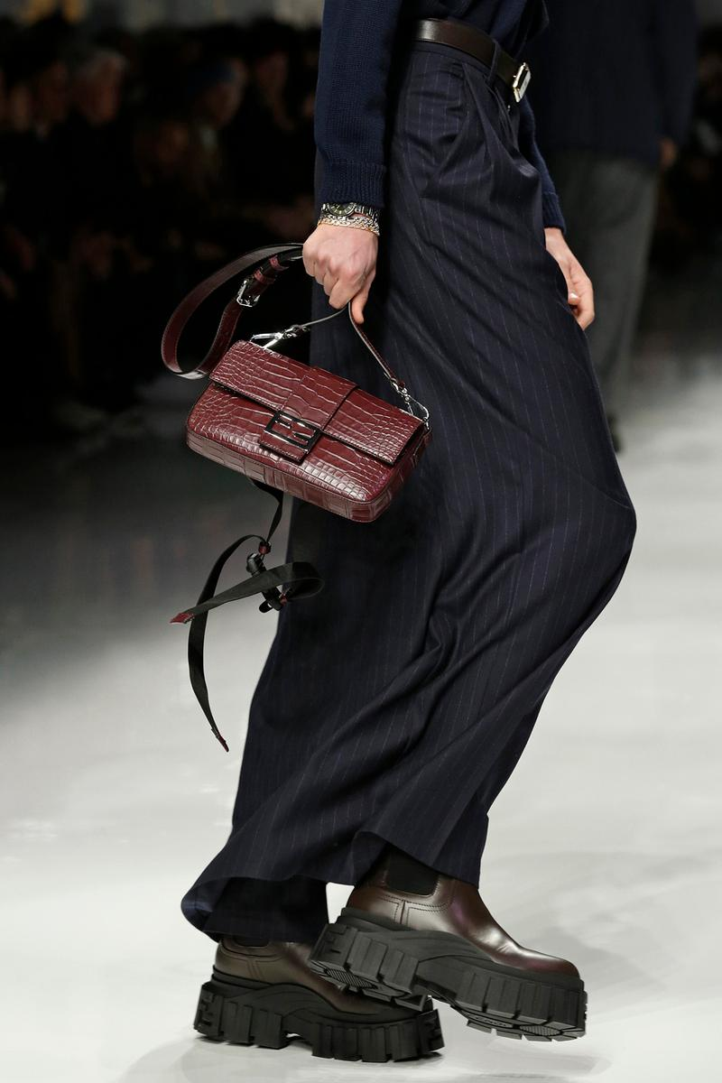 Fendi Fall/Winter 2020 Collection Baguette Burgundy
