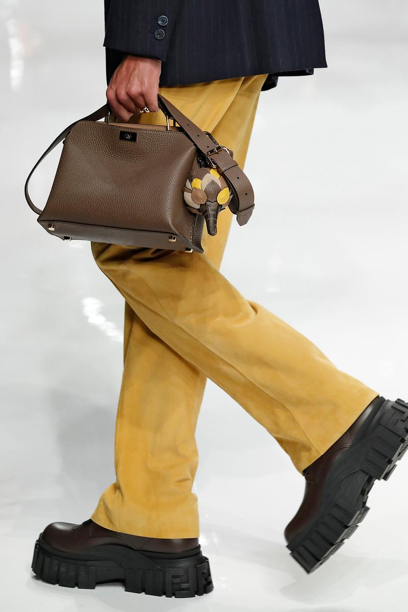 Fendi Fall/Winter 2020 Collection Top Handle Brown Charm