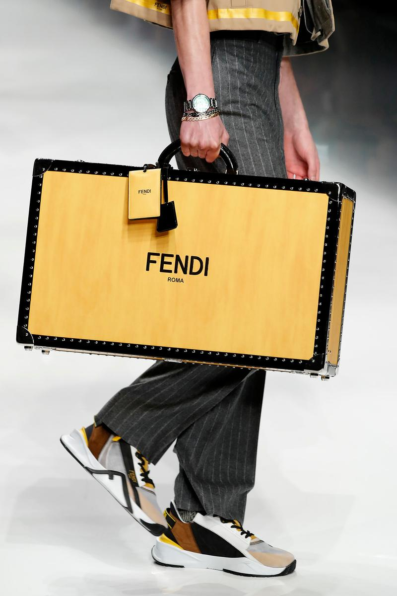 Fendi Fall/Winter 2020 Collection Trunk Yellow