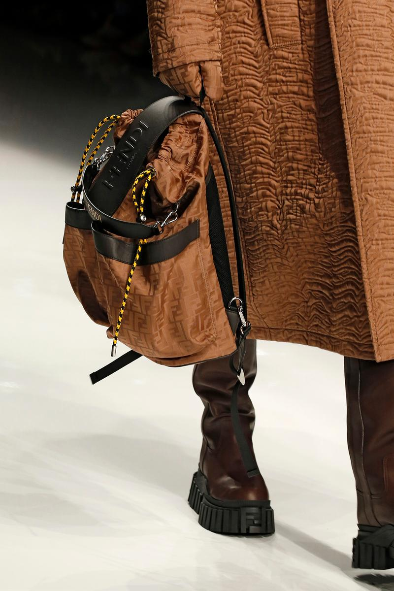 Fendi Fall/Winter 2020 Collection Backpack Brown